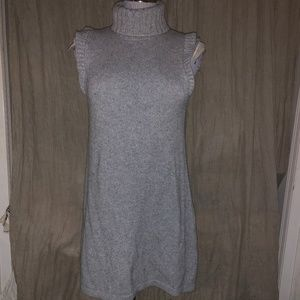 525 America gray 100% cashmere sweater dress L